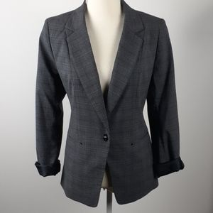 Laundry by Shelli Segal plaid career Blazer fitted